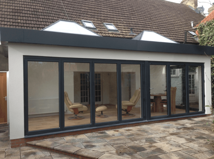 Flat roof extension rcdbuild for Flat roof bungalow designs